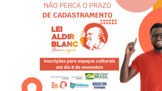 Secultur faz novo chamamento público da Lei Aldir Blanc para cadastro de espaços culturais de Paranaguá