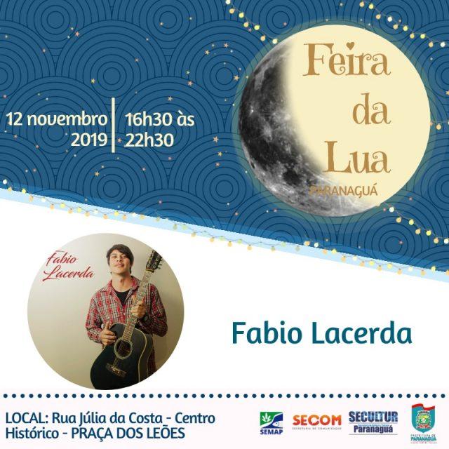 Fabio Lacerda anima a Feira da Lua nesta terça-feira
