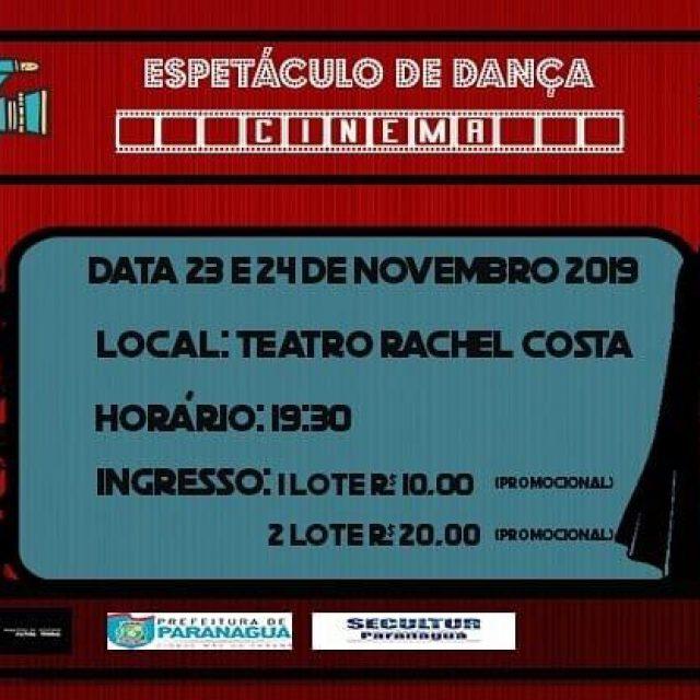 """Estúdio Fênix reazlia o """"Espetáculo de dança: Cinema"""" no Teatro Rachel Costa"""