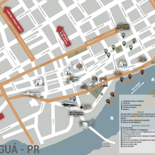 Secultur disponibiliza nova versão de mapa da cidade para turistas