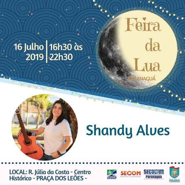 6438df3124f3 Hoje é dia de Shandy Alves na Feira da Lua